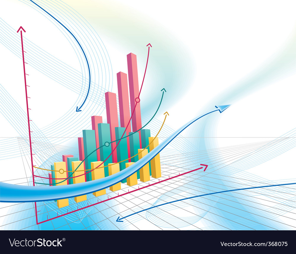 Abstract business graph vector | Price: 1 Credit (USD $1)