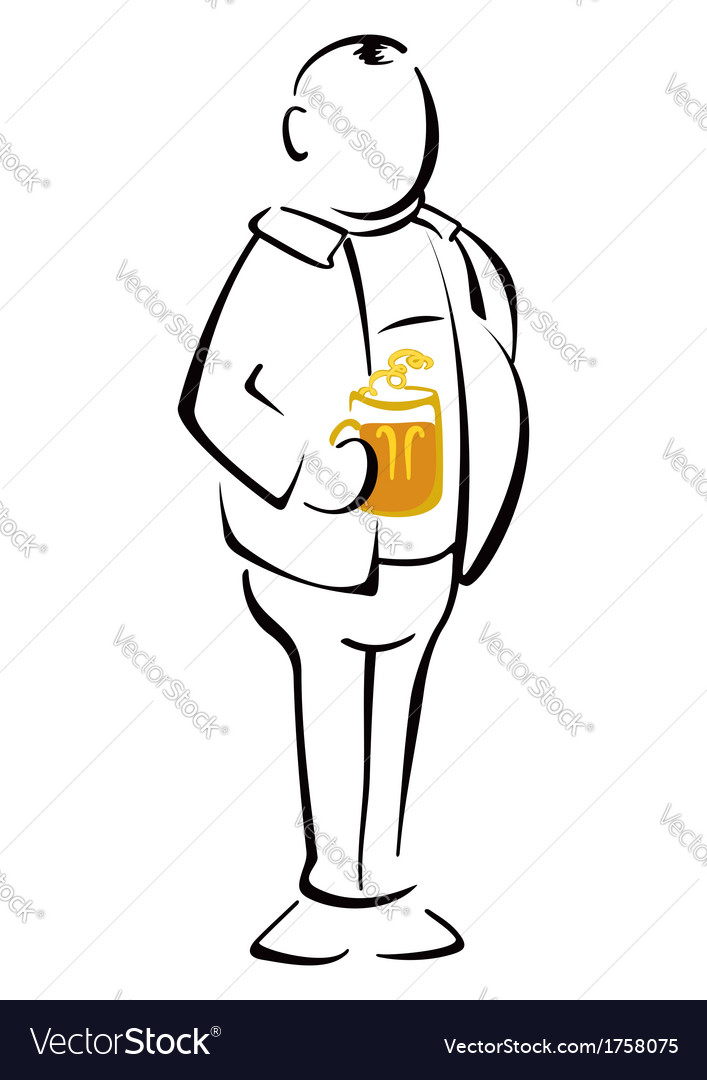 Beer drinker vector | Price: 1 Credit (USD $1)