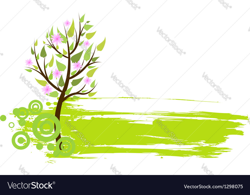 Blossom tree grunge vector | Price: 1 Credit (USD $1)