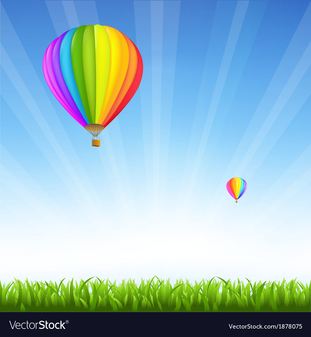 Colorful sale hot air balloons vector | Price: 1 Credit (USD $1)