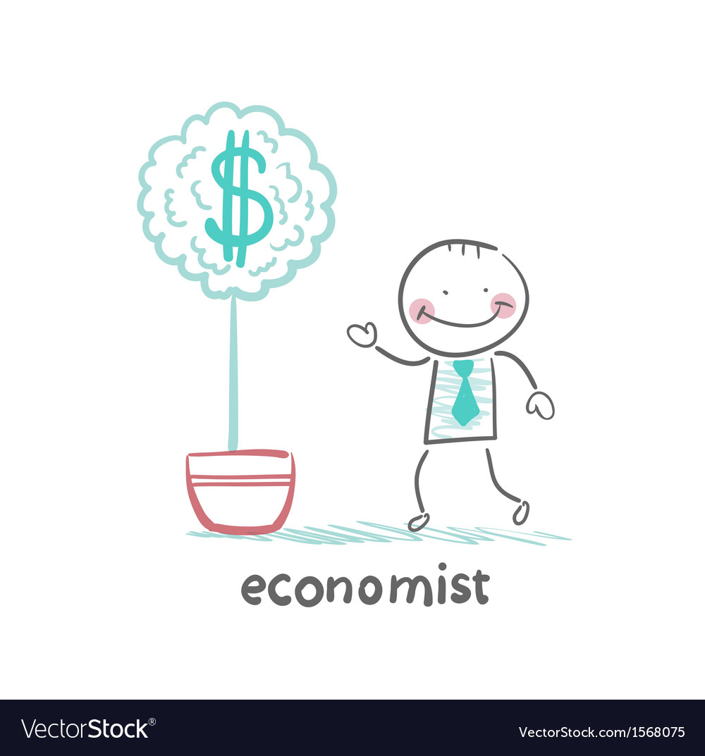 Economist grow a money tree vector | Price: 1 Credit (USD $1)