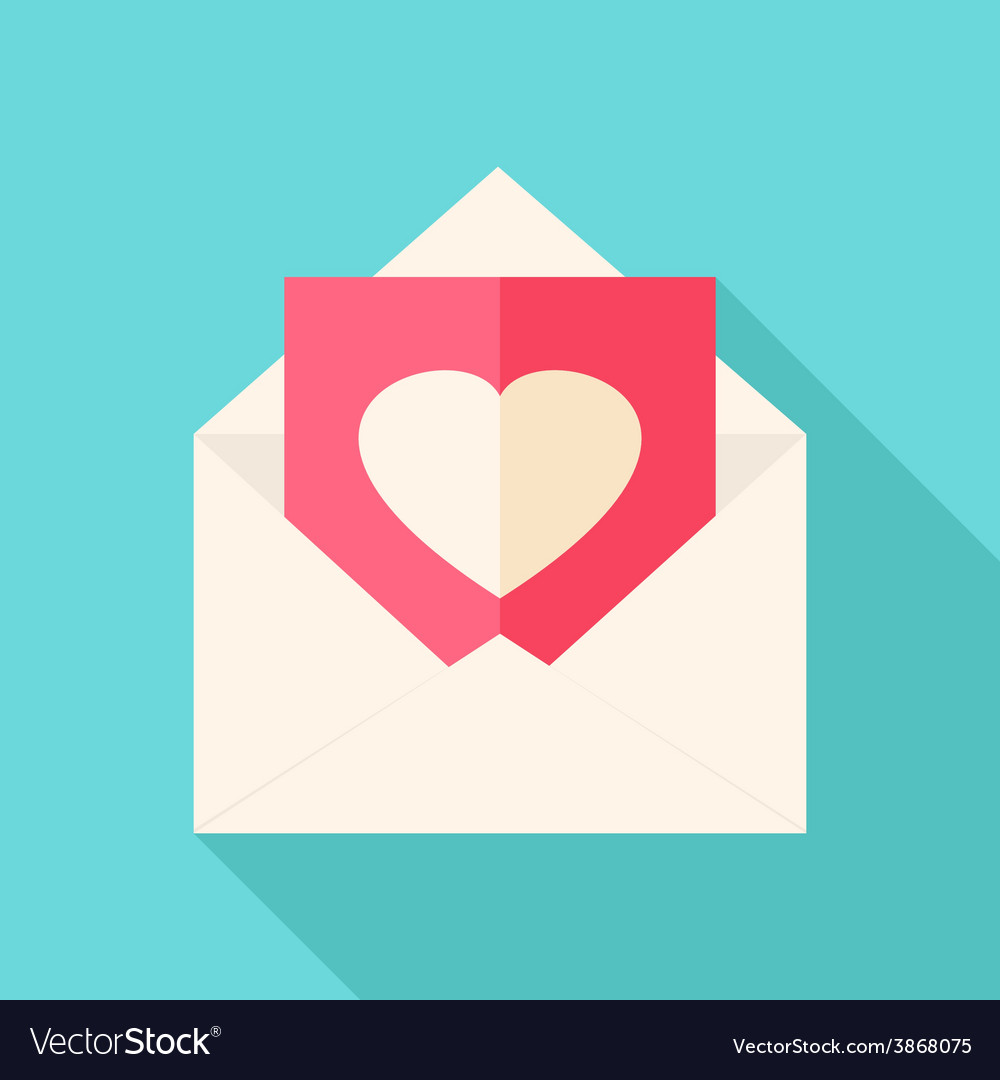 Envelope with love letter vector | Price: 1 Credit (USD $1)