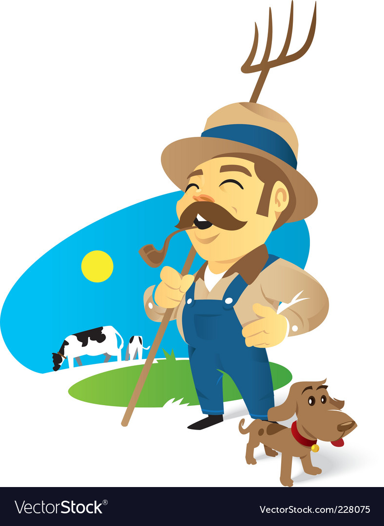 Farmer vector | Price: 3 Credit (USD $3)