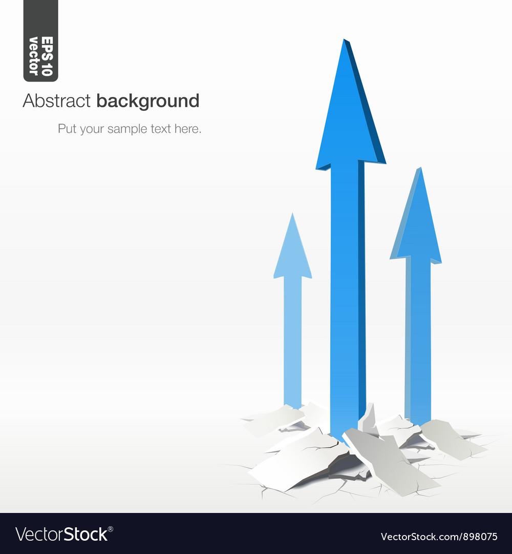 Growth arrows - success concept vector | Price: 1 Credit (USD $1)