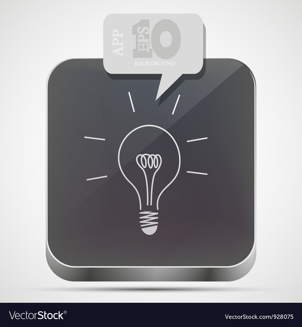 Idea app icon vector | Price: 1 Credit (USD $1)
