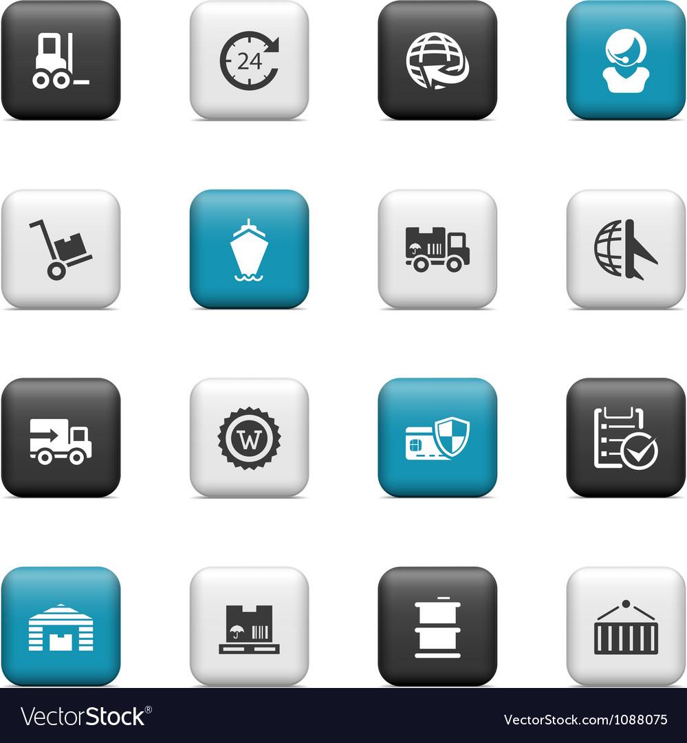 Logistics transportation icons vector   Price: 1 Credit (USD $1)