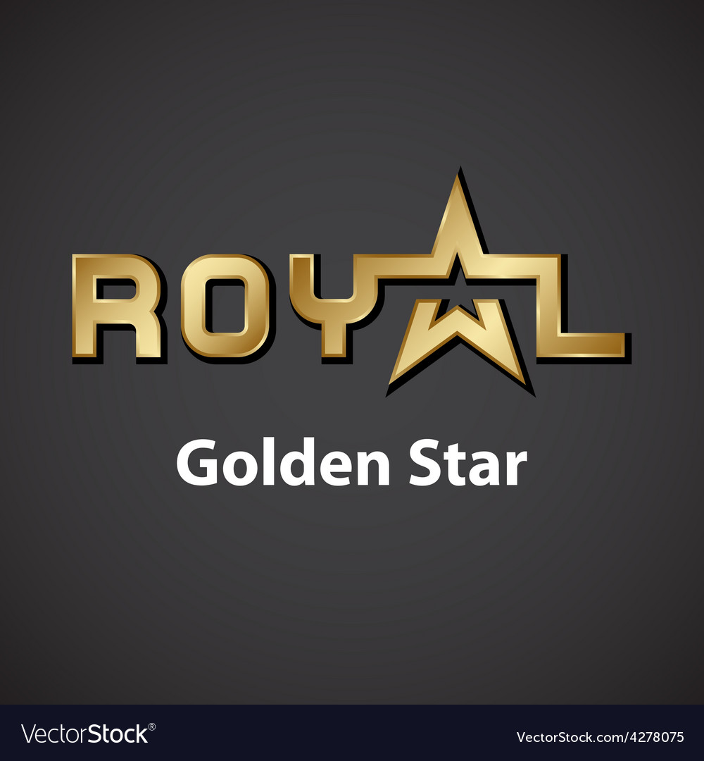 Royal golden star inscription icon vector | Price: 1 Credit (USD $1)