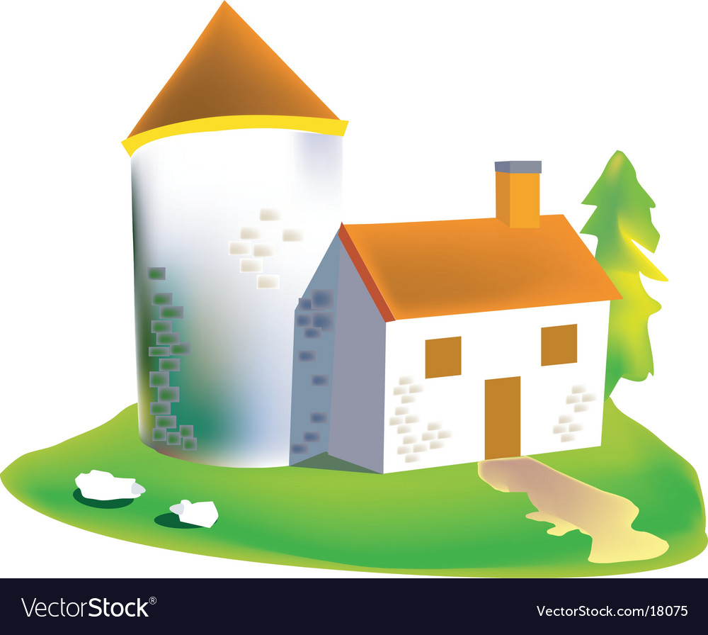 Stone house vector | Price: 1 Credit (USD $1)