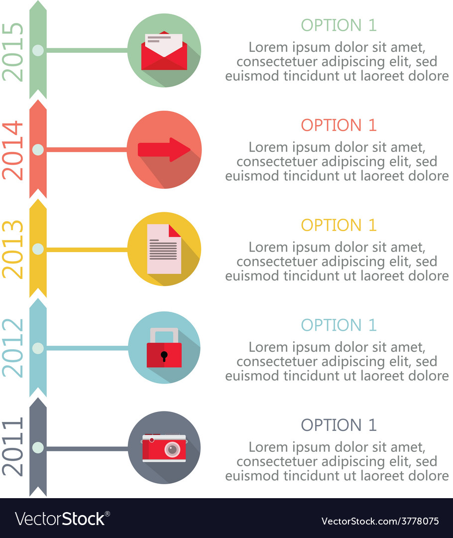 Time line infographic vector | Price: 1 Credit (USD $1)