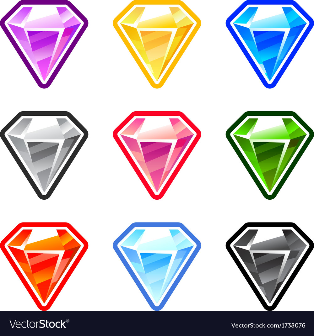 Colourful diamonds vector | Price: 1 Credit (USD $1)