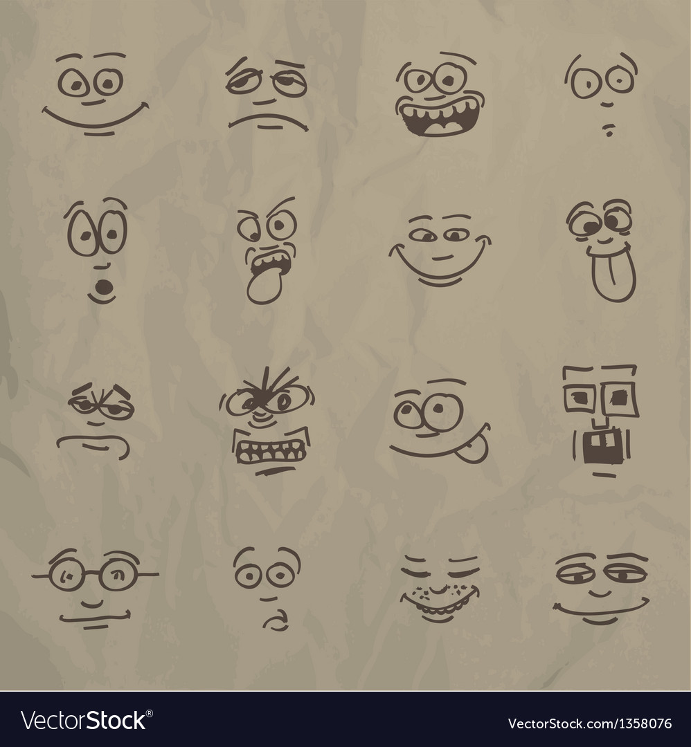 Emoticons vector | Price: 1 Credit (USD $1)