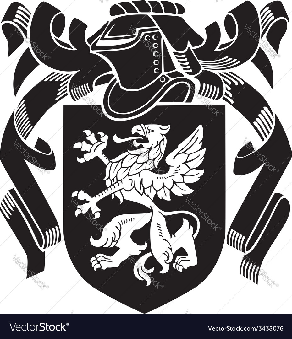 Heraldic silhouette no4 vector | Price: 1 Credit (USD $1)