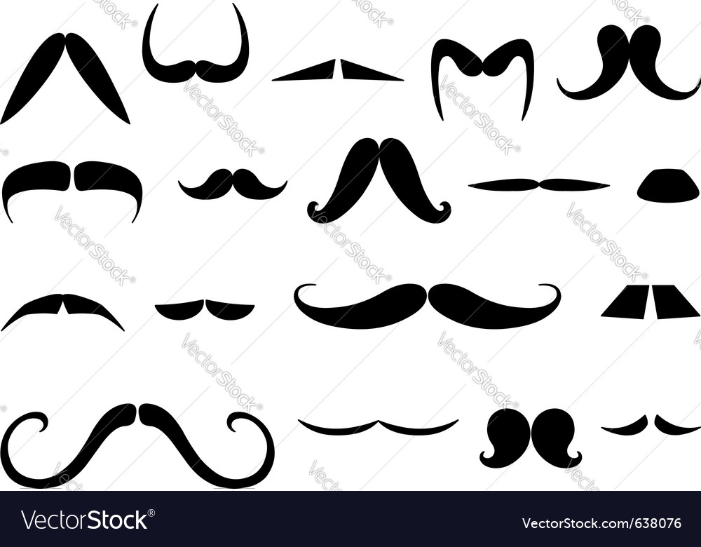 Mustaches set vector | Price: 1 Credit (USD $1)