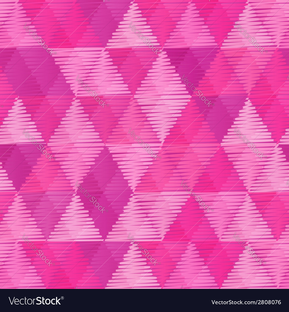 Pink vintage textile triangles seamless pattern vector | Price: 1 Credit (USD $1)