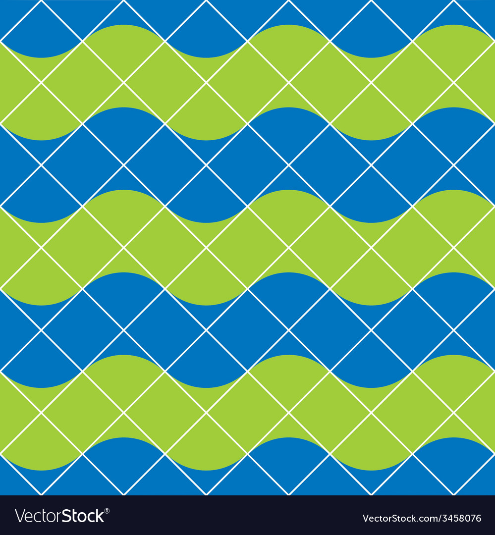 Retro tiles seamless pattern background vector | Price: 1 Credit (USD $1)