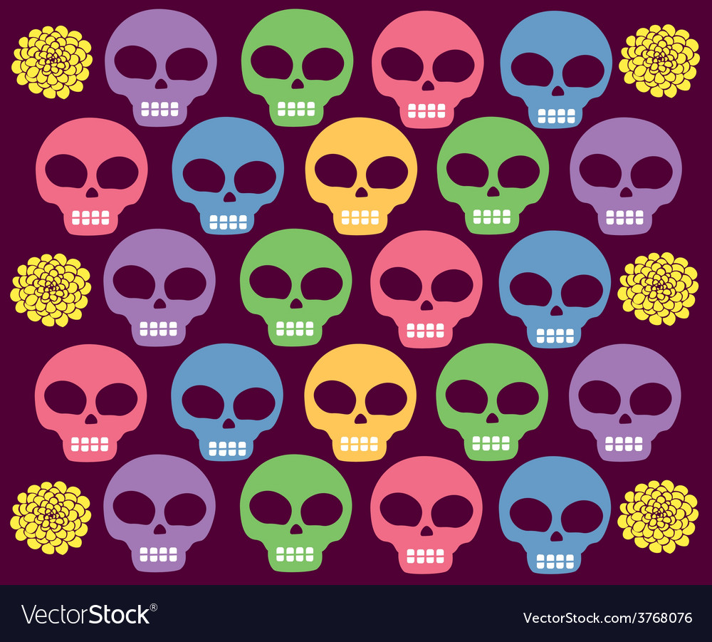 Skulls colored vector | Price: 1 Credit (USD $1)