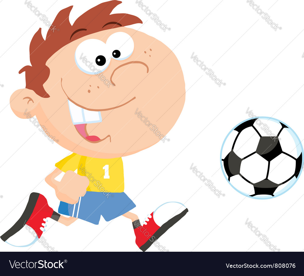 Soccer boy with ball vector   Price: 1 Credit (USD $1)