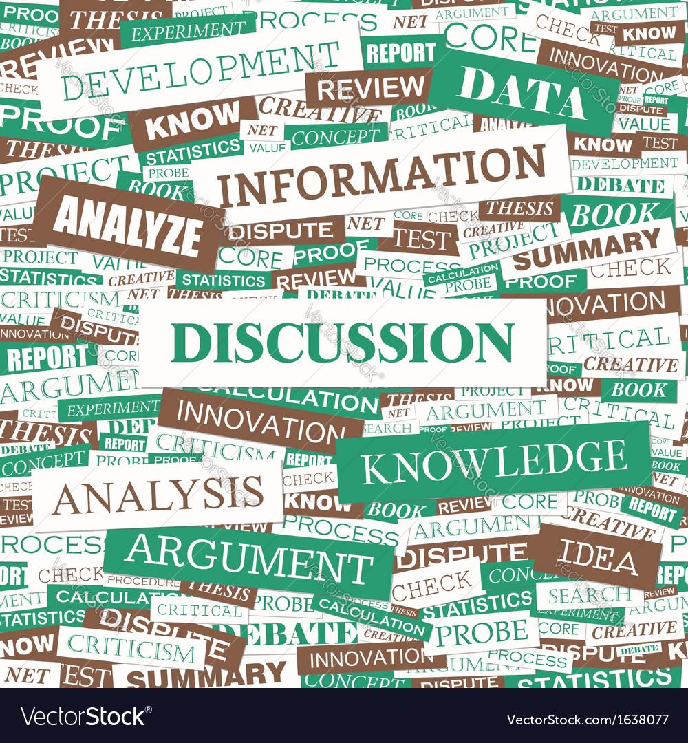 Discussion vector | Price: 1 Credit (USD $1)