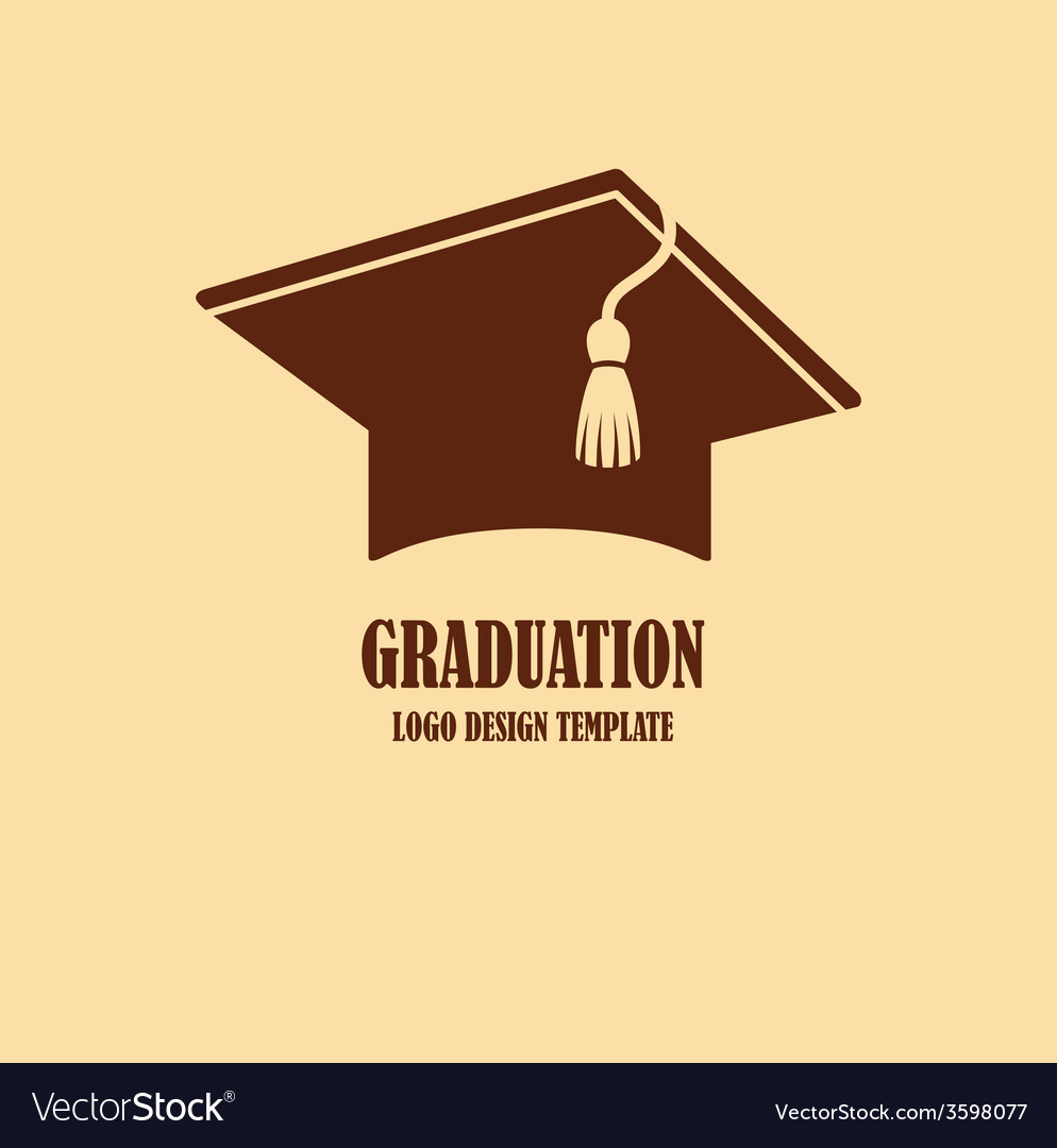 Graduation cap logo design vector | Price: 1 Credit (USD $1)