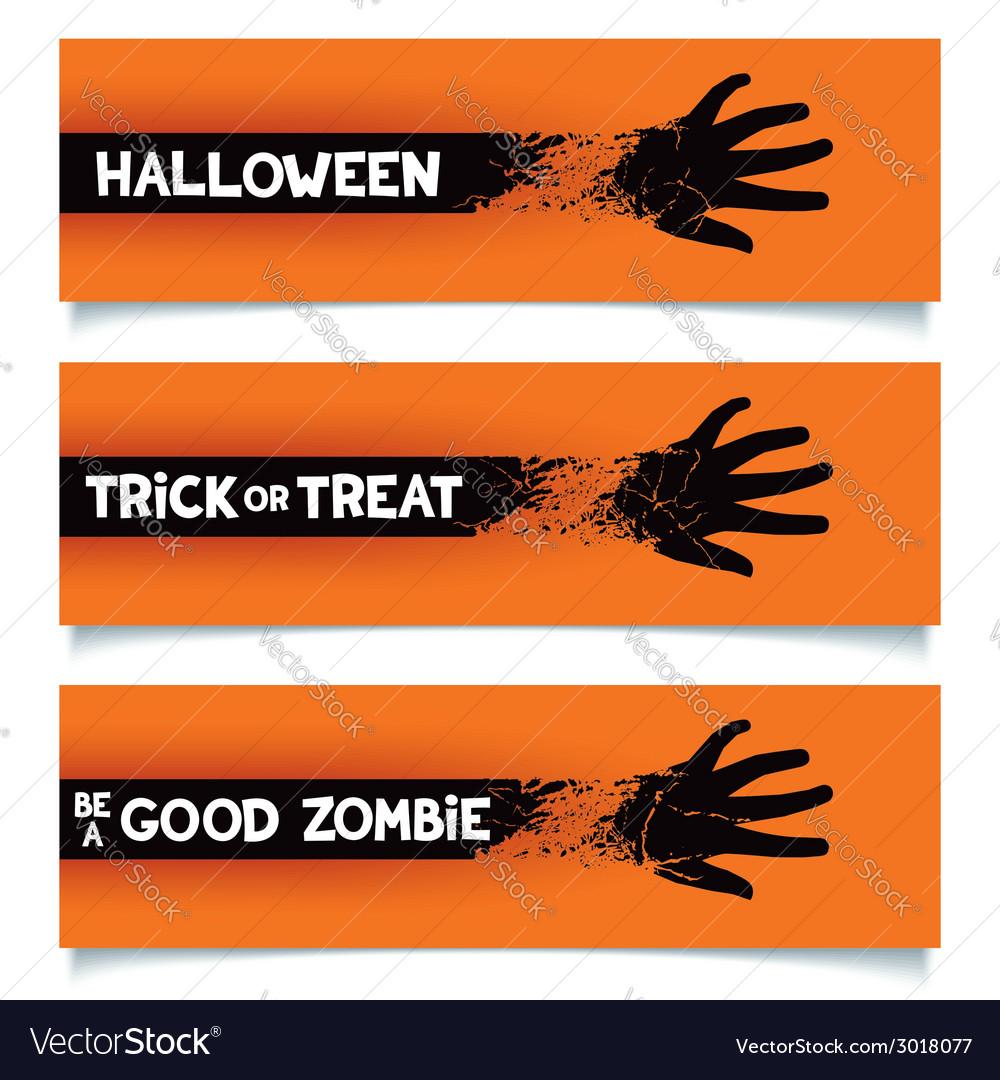Halloween banners template vector | Price: 1 Credit (USD $1)