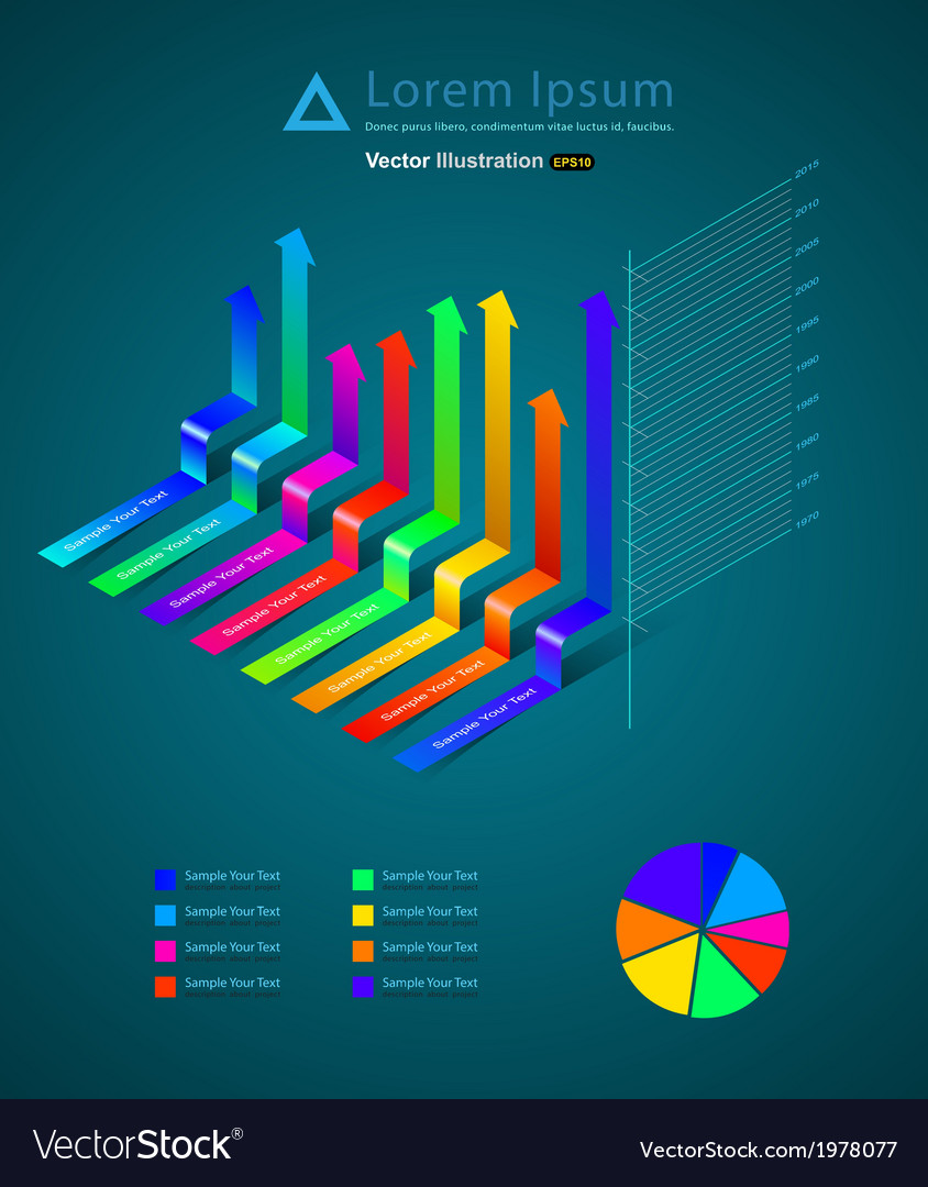 Infographic ribbon vector | Price: 1 Credit (USD $1)