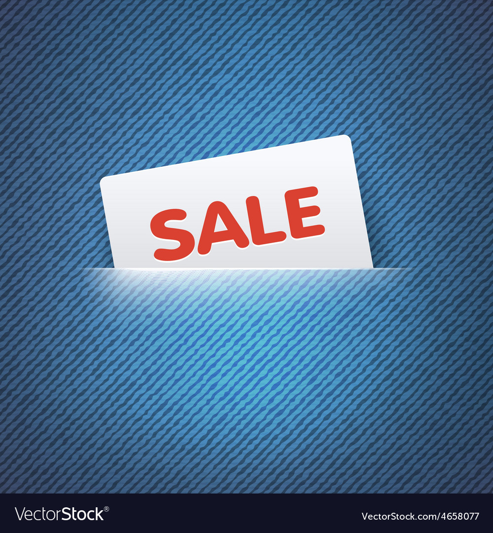 Sale label in pocket vector | Price: 1 Credit (USD $1)