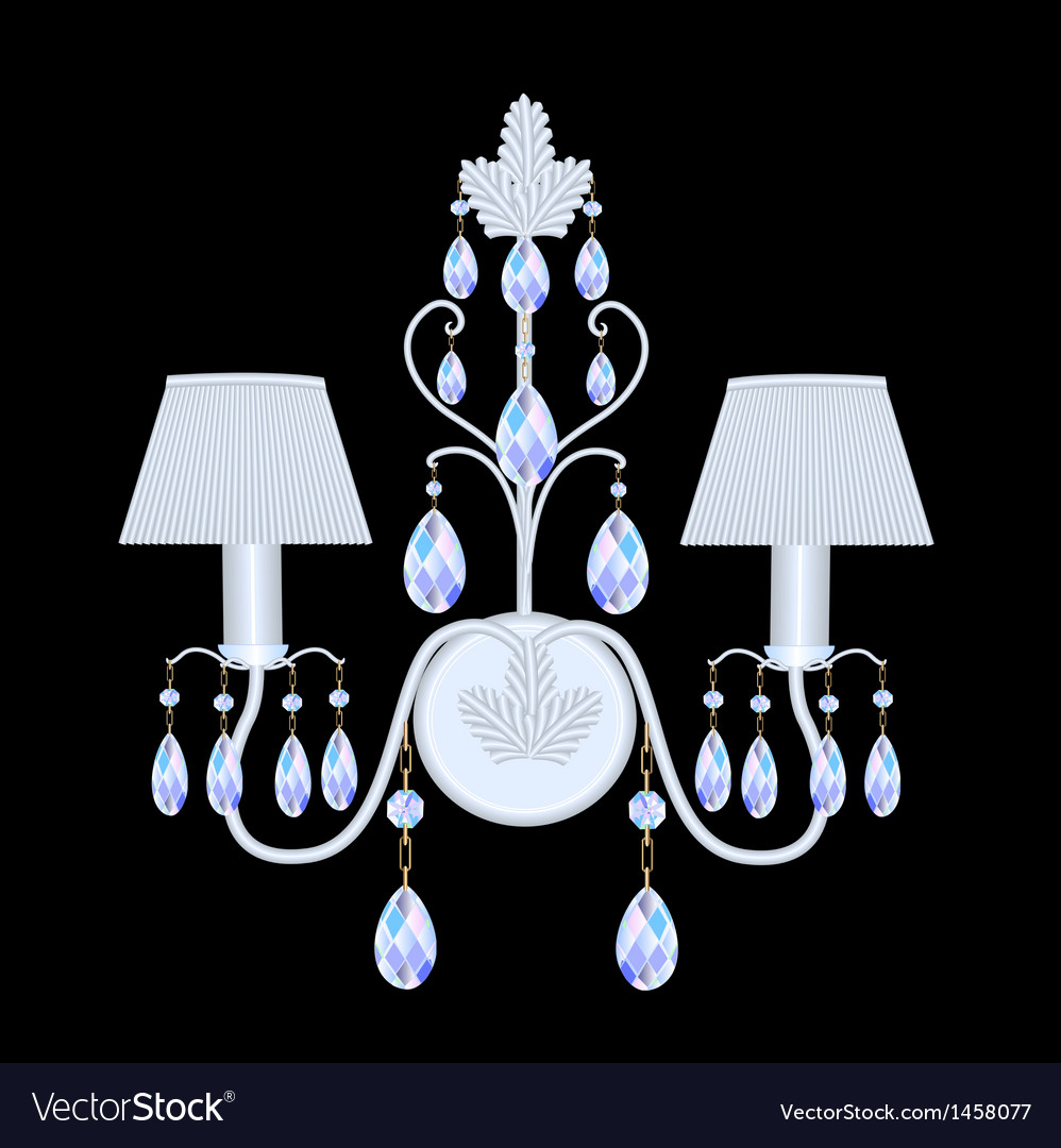 Sconces with crystal pendants vector | Price: 1 Credit (USD $1)