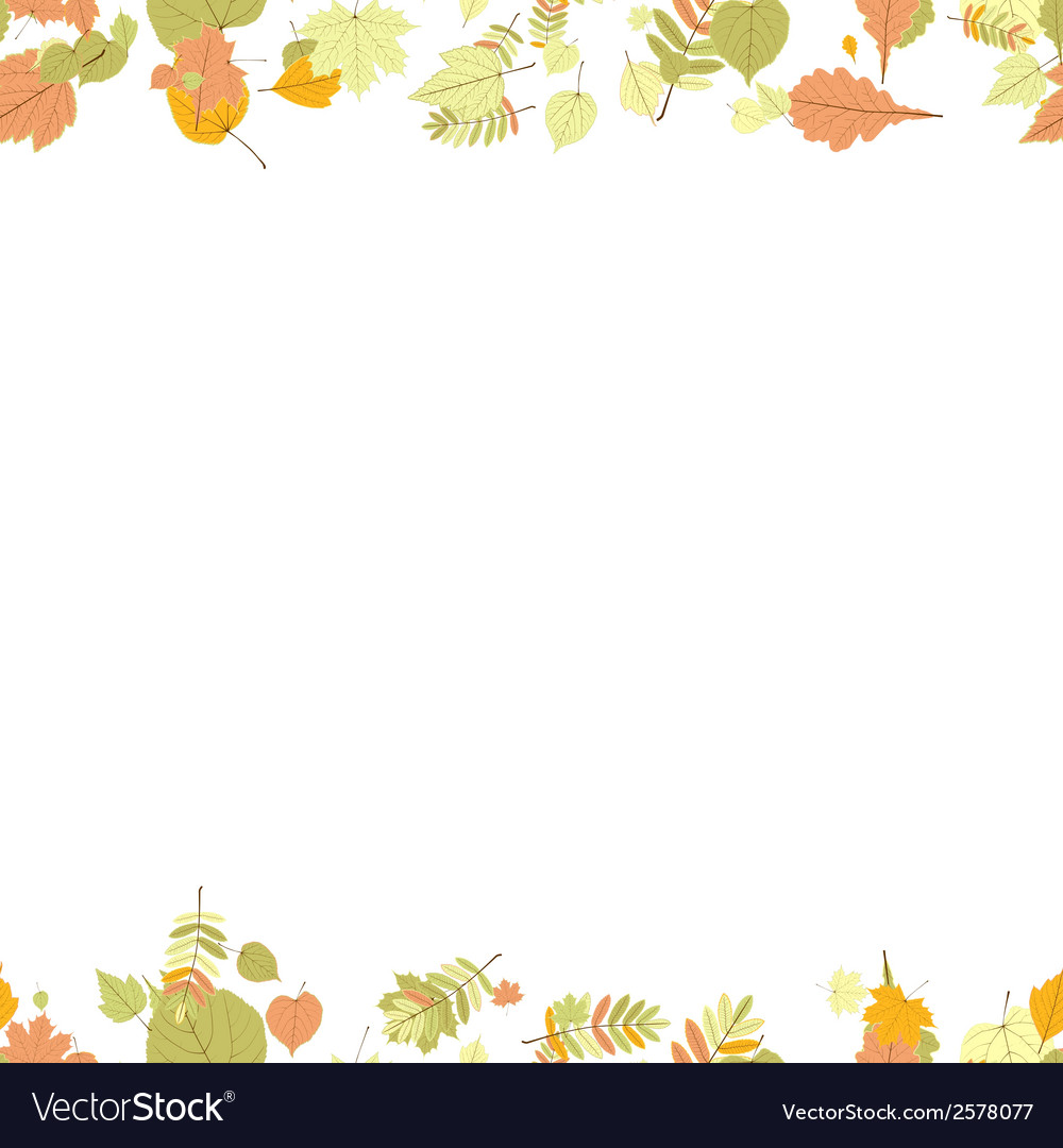 Seamless autumn leaves pattern vector   Price: 1 Credit (USD $1)