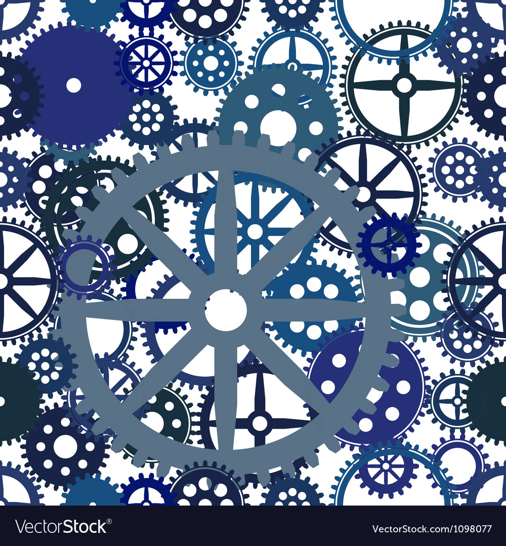 Seamless clockwork background eps8 image vector | Price: 1 Credit (USD $1)