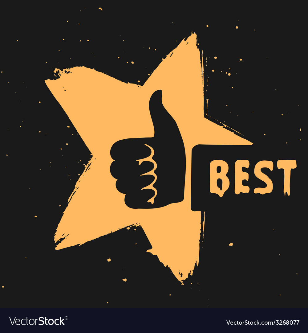 The symbol is the best choice vector | Price: 1 Credit (USD $1)