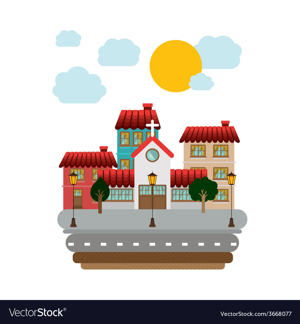 Town design vector | Price: 1 Credit (USD $1)