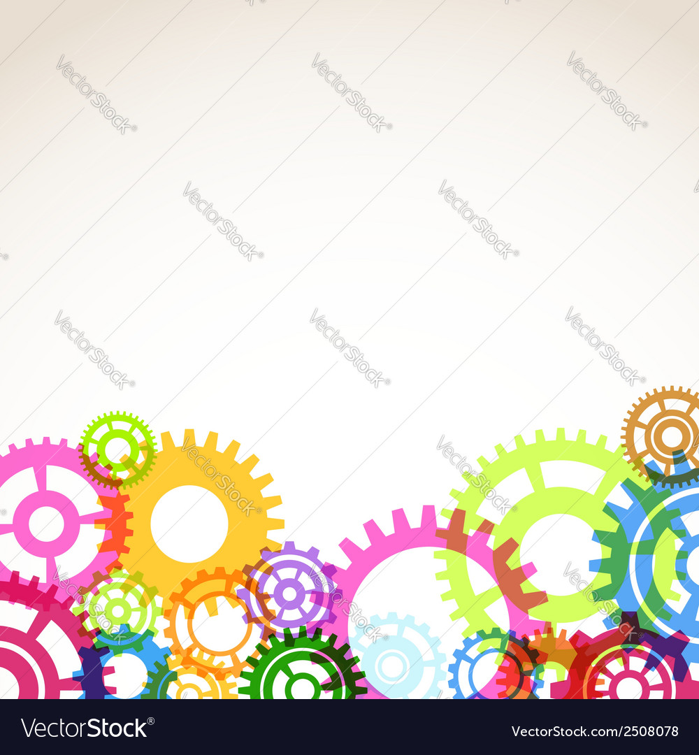 Bright colorful gear mechanism abstraction vector | Price: 1 Credit (USD $1)