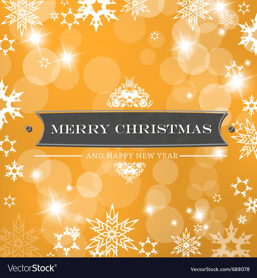 Christmas orange background vector | Price: 1 Credit (USD $1)