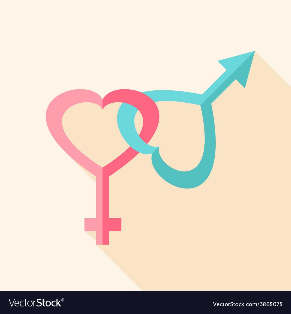 Gender hearts signs vector | Price: 1 Credit (USD $1)