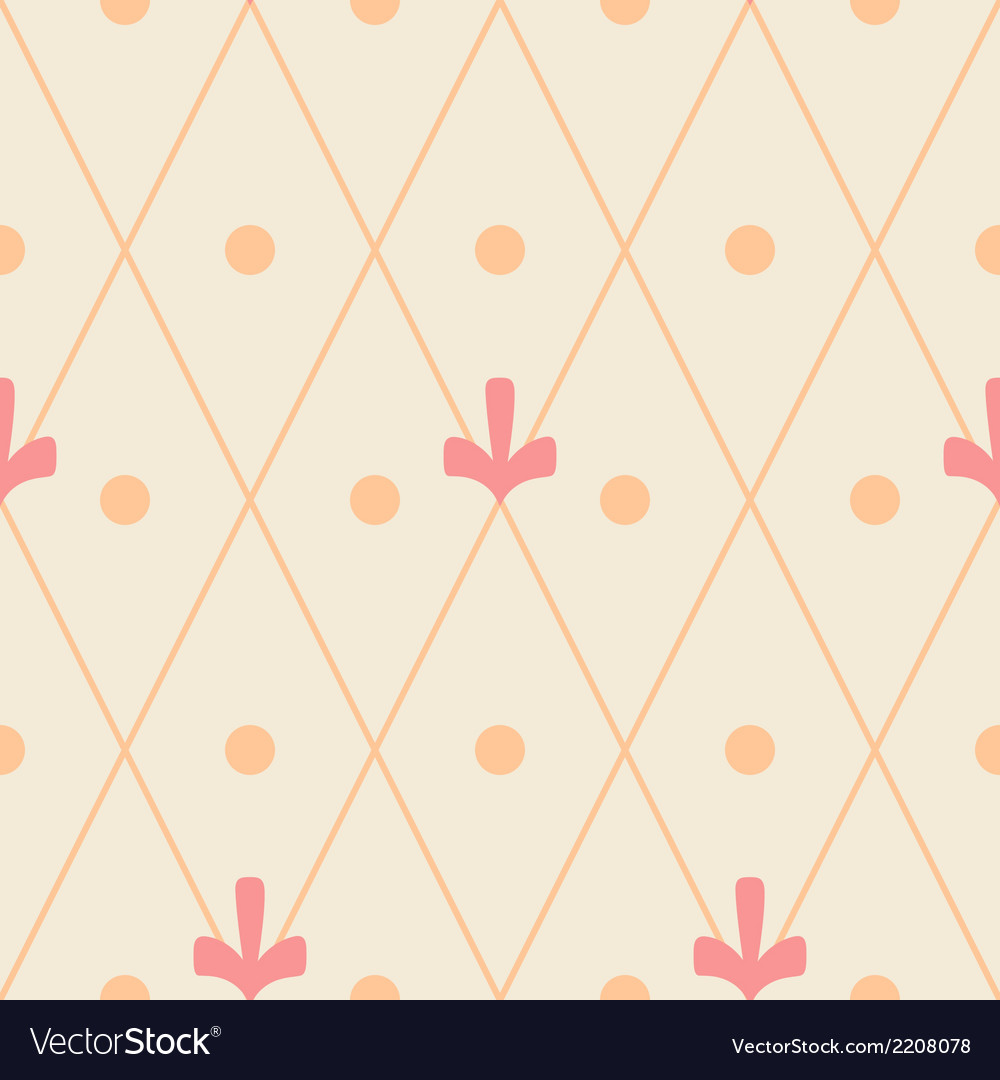 Geometric ornamental seamless pattern on beige vector | Price: 1 Credit (USD $1)