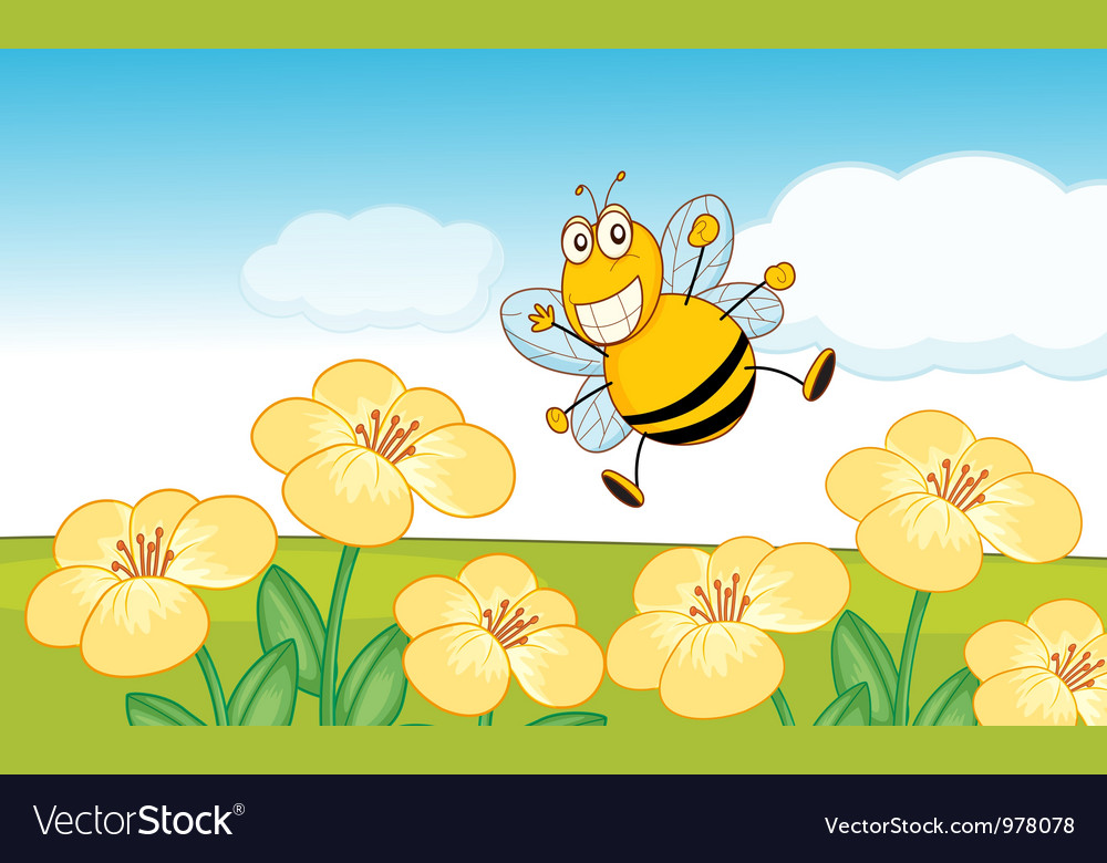 Happy bee vector | Price: 3 Credit (USD $3)
