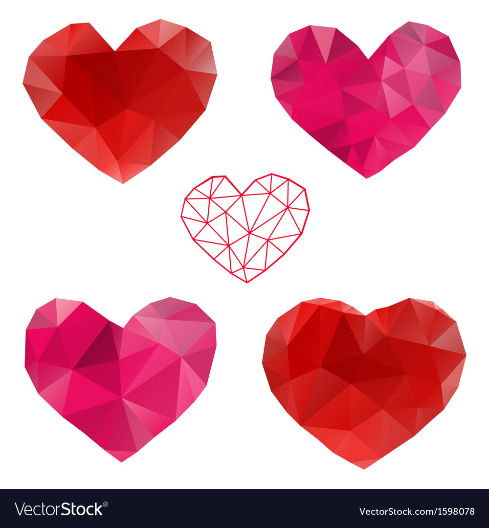 Heart love set of design elements vector | Price: 1 Credit (USD $1)