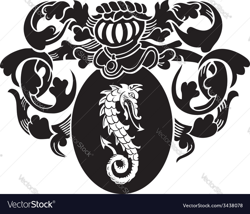 Heraldic silhouette no5 vector | Price: 1 Credit (USD $1)