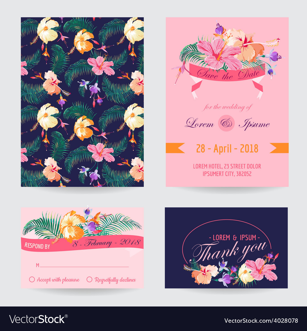 Invitation-congratulation card set vector | Price: 1 Credit (USD $1)