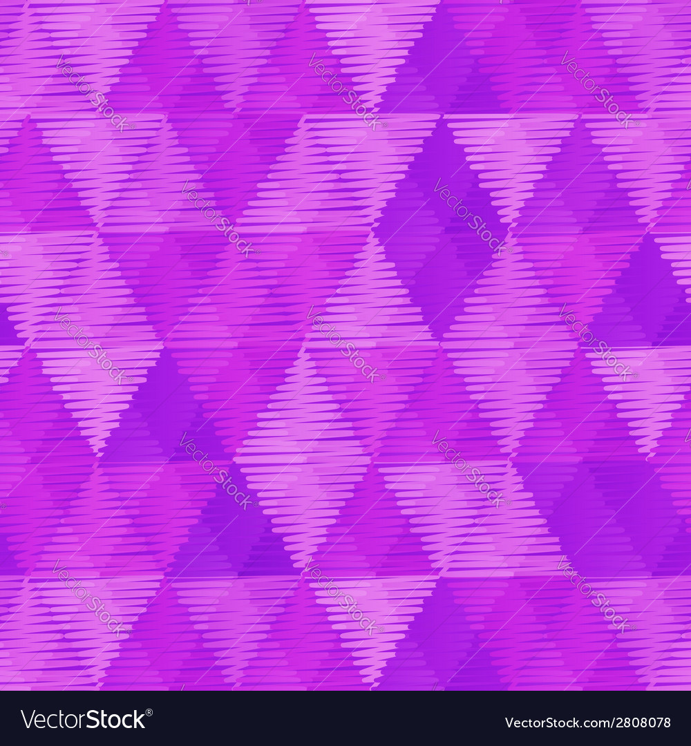Purple retro textile triangles seamless pattern vector | Price: 1 Credit (USD $1)