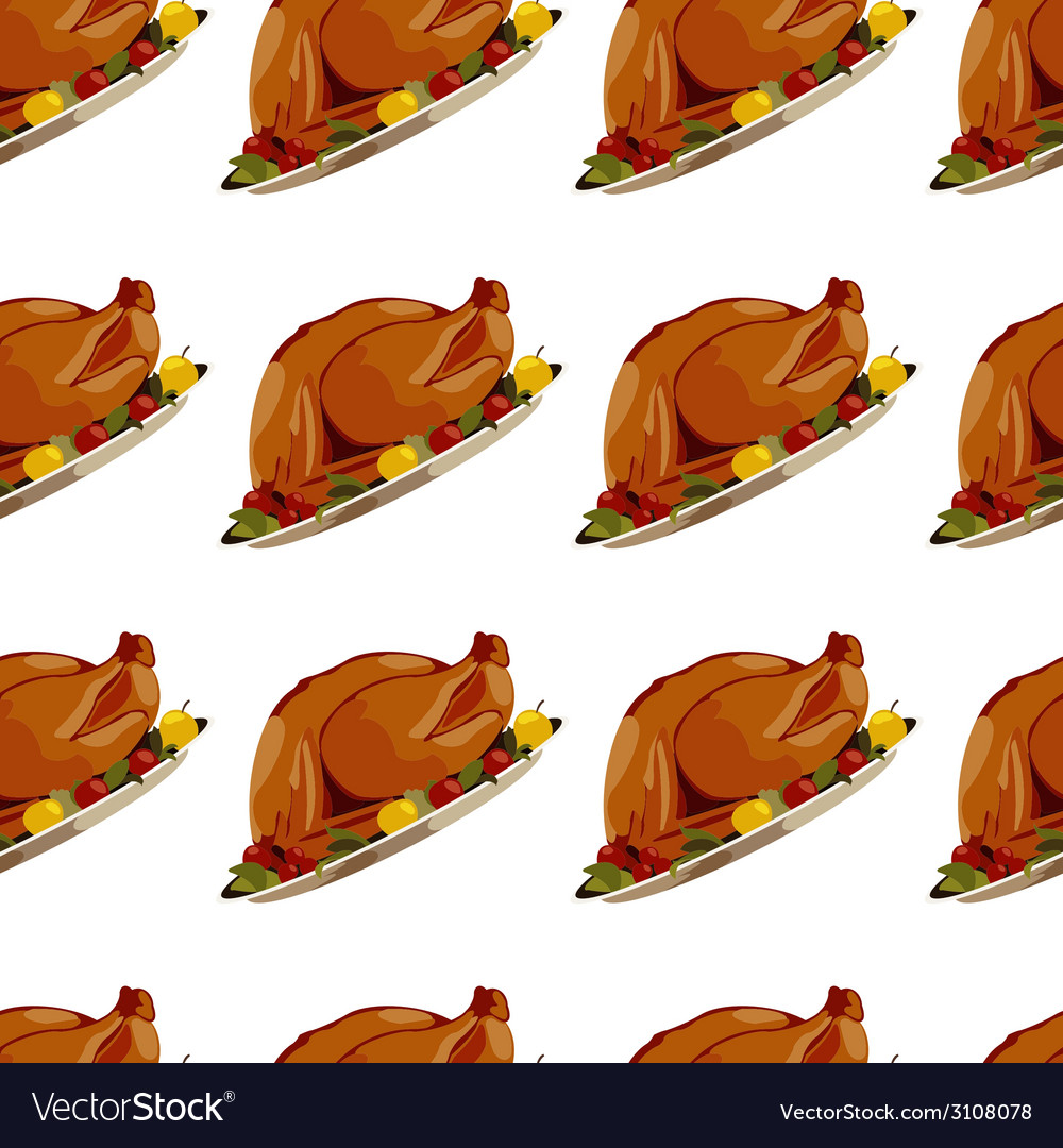Roast turkey vector | Price: 1 Credit (USD $1)
