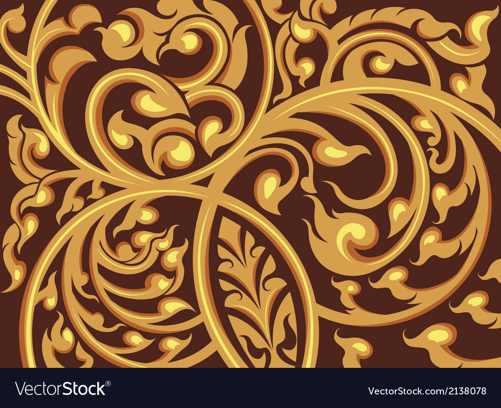 Vine pattern on a brown background vector   Price: 1 Credit (USD $1)