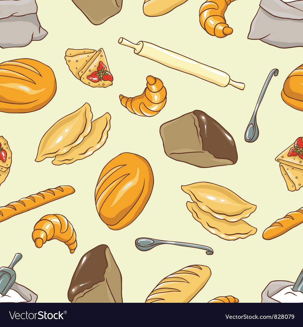 Background bread theme vector | Price: 1 Credit (USD $1)