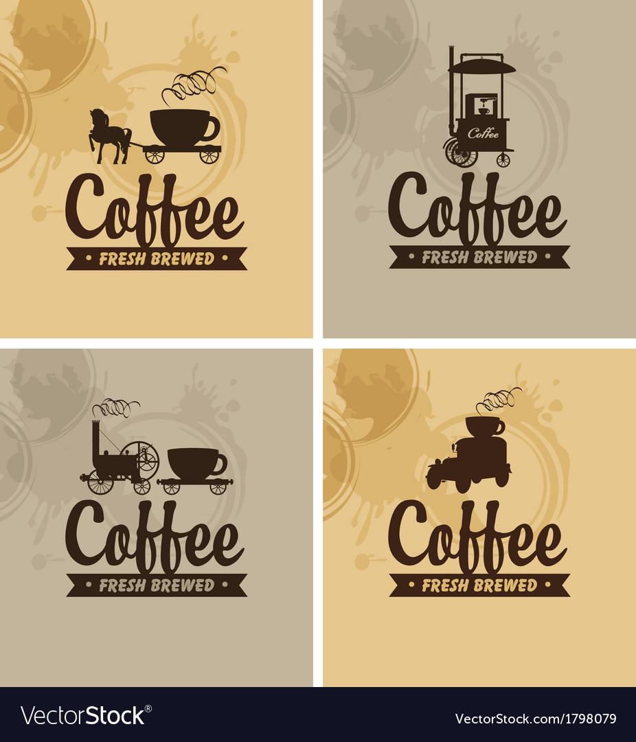 Cafe on wheels vector | Price: 1 Credit (USD $1)