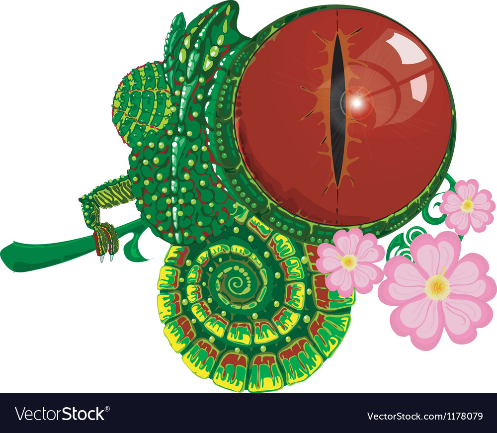 Chameleon vector | Price: 3 Credit (USD $3)