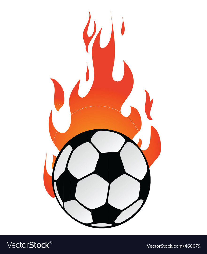 Flaming soccer vector | Price: 1 Credit (USD $1)