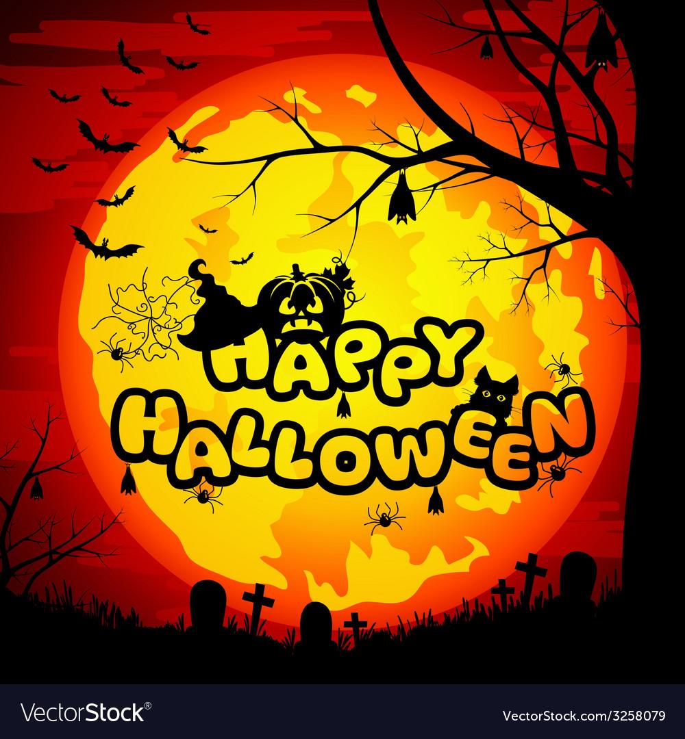 Happy halloween sign for halloween vector | Price: 1 Credit (USD $1)