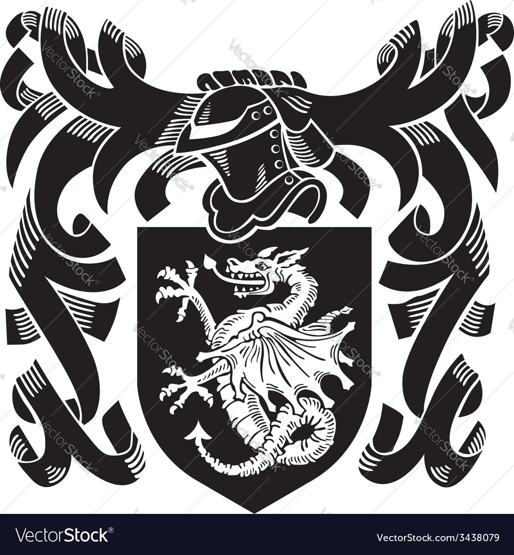 Heraldic silhouette no6 vector | Price: 1 Credit (USD $1)