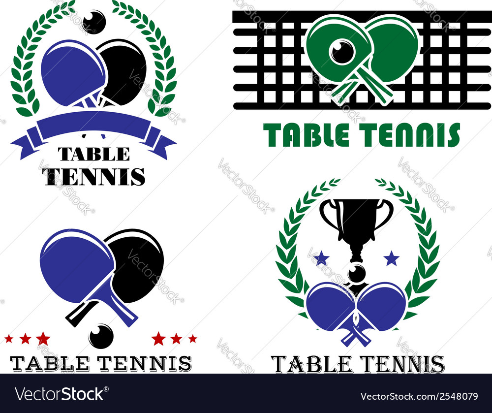 Ping-pong and table tennis symbols vector | Price: 1 Credit (USD $1)