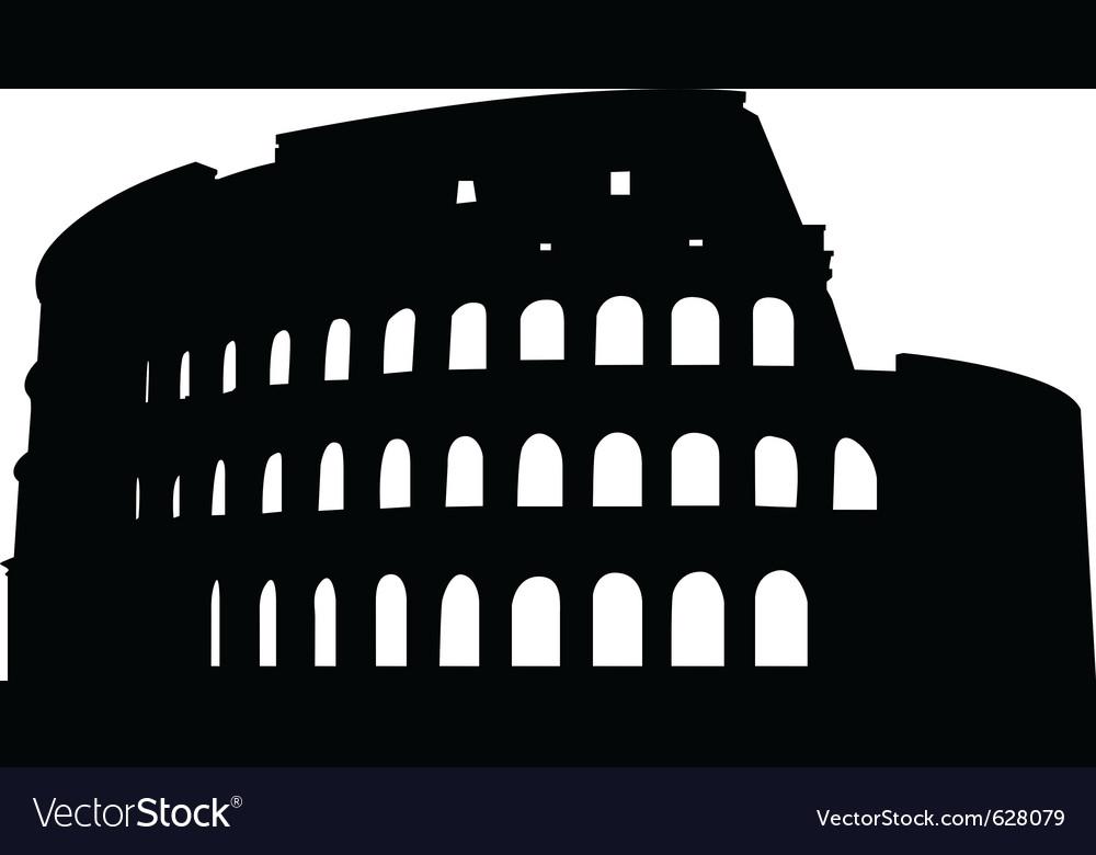 Roman coliseum silhouette vector | Price: 1 Credit (USD $1)